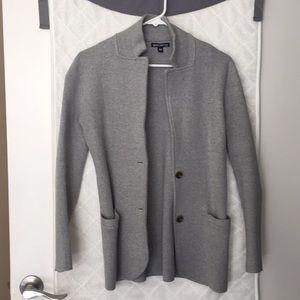 Gray Sweater Blazer